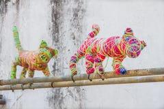 La pieza del arte de la calle de los 101 gatitos perdidos proyecta Foto de archivo