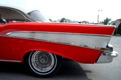 La pieza del coche del rojo de la vendimia Imagen de archivo libre de regalías