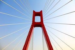 La pieza del puente de cable Fotos de archivo libres de regalías