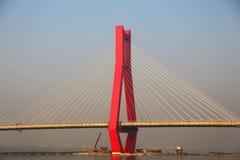 La pieza del puente de cable Imagen de archivo libre de regalías