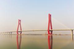 La pieza del puente de cable Fotografía de archivo
