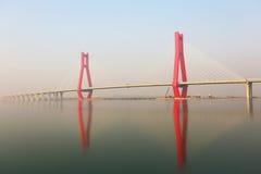 La pieza del puente de cable Fotografía de archivo libre de regalías