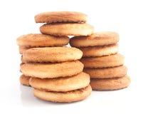 La pila de galletas cocidas frescas Imágenes de archivo libres de regalías