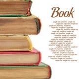 La pila de libros aislados en blanco foto de archivo libre de regalías