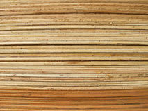 Pila de hojas de la madera contrachapada Fotografía de archivo