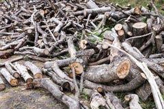 La pila de madera registra el fondo imagen de archivo libre de regalías