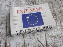 La pila de periódicos sale noticias en la madera vieja Scratched, ejemplo 3d ilustración del vector