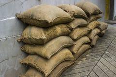 La pila de saco de la arena Imagen de archivo libre de regalías