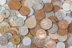 La pila de toda acuña el dinero japonés, moneda de Japón fotos de archivo libres de regalías