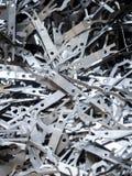 La pila del pedazo del aluminio y de metal adentro recicla la fábrica imagen de archivo libre de regalías