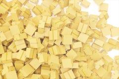 La pila di consegna del cartone inscatola o sparte il fondo rappresentazione 3d Fotografia Stock Libera da Diritti