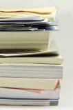 La pila di libri ha isolato Fotografia Stock