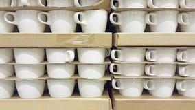 La pila di tazza fotografie stock