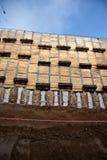 La pile ancrée maintiennent le mur Photos libres de droits