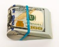 La pile d'argent en des dollars US encaissent des billets de banque Images libres de droits