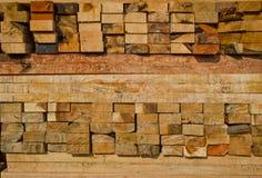 La pile de bois de charpente en bois de construction enregistre la mémoire photographie stock libre de droits