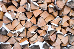 La pile de bois de chauffage Images libres de droits