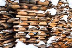 La pile de bois de chauffage Image libre de droits