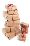 La pile de handcraft des boîte-cadeau Image libre de droits