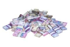 La pile de l'argent emballe l'Ukrainien Photo libre de droits
