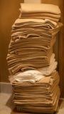 La pile des essuie-main propres Photo libre de droits
