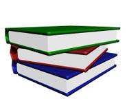 La pile des livres sur le blanc. Photo libre de droits