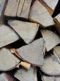 La pile du bois de chauffage Photos stock