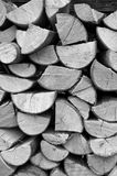La pile du bois note le modèle Photographie stock libre de droits