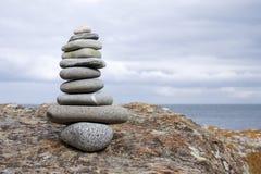 la pile lapide le zen Image stock