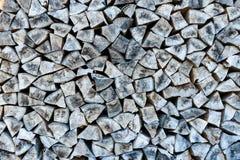 La pile ou la pile de bois naturel du feu note le fond de texture image libre de droits