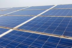 La pile solaire Photo stock