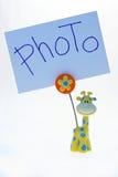 la pince à linge encadre la photo Photo libre de droits