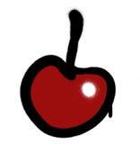 La pintada roció la cereza roja con el escape sobre blanco libre illustration