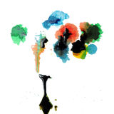 La pintura abstracta gotea abajo Imágenes de archivo libres de regalías