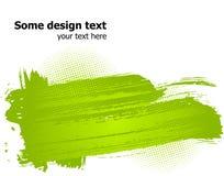 La pintura abstracta verde salpica la ilustración. Vector Fotos de archivo libres de regalías