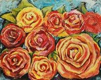 La pintura al óleo subió Fotografía de archivo