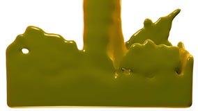 La pintura amarilla llena la pantalla, aislada en HD LLENO blanco del canal alfa ilustración del vector