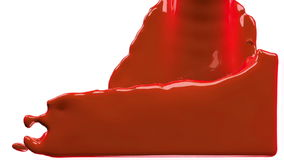 La pintura anaranjada llena la pantalla, aislada en HD LLENO blanco del canal alfa libre illustration