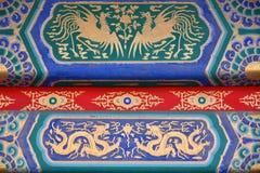 La pintura arquitectónica antigua del palacio imperial foto de archivo libre de regalías