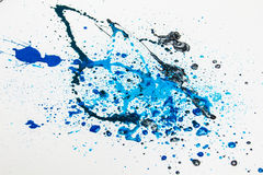 La pintura azul salpica   imagen de archivo libre de regalías