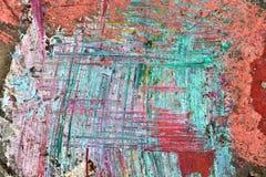 La pintura colorida salpica en los muros de cemento viejos y resistidos foto de archivo libre de regalías