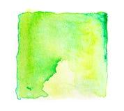 la pintura cuadrada abstracta de la mano de la acuarela aislada en la parte posterior del blanco Fotos de archivo libres de regalías