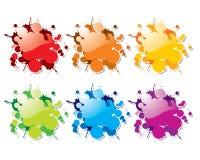 La pintura del color del vector salpica stock de ilustración