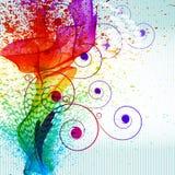 La pintura del color salpica. Imagen de archivo