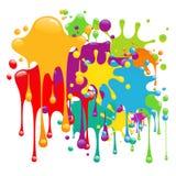 La pintura del color salpica Imagen de archivo