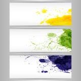 La pintura del color salpica el fondo libre illustration