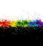 La pintura del color salpica. Fondo del gradiente Fotografía de archivo libre de regalías