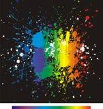 La pintura del color salpica. Fondo del vector del gradiente Fotos de archivo libres de regalías