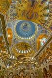 La pintura en la bóveda de la catedral naval del santo Nichola Foto de archivo