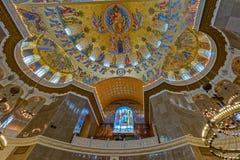 La pintura en la bóveda de la catedral naval del santo Nichola Fotos de archivo libres de regalías